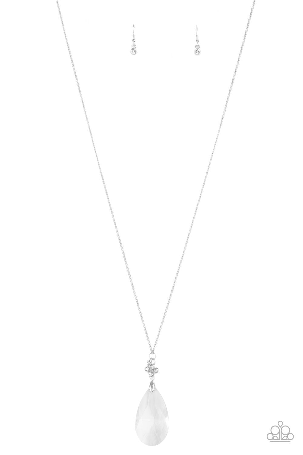 Paparazzi Necklace LOP August ~ Up in the Heir - White