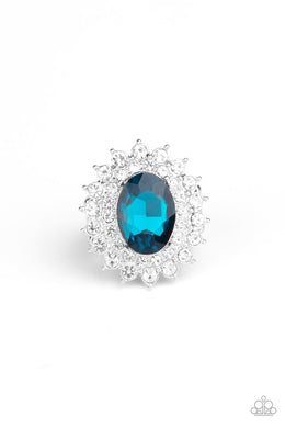 Secret Garden Glow - Blue - Paparazzi Ring Image