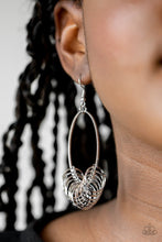 Load image into Gallery viewer, Halo Effect - Silver - Paparazzi Earring Image