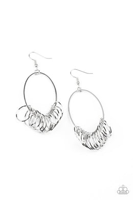 Halo Effect - Silver - Paparazzi Earring Image