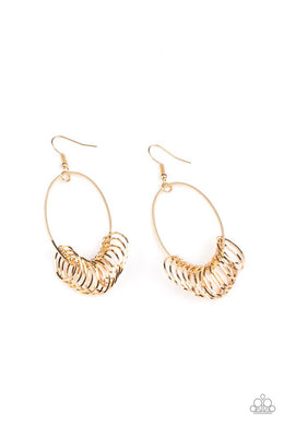 Halo Effect - Gold - Paparazzi Earring Image