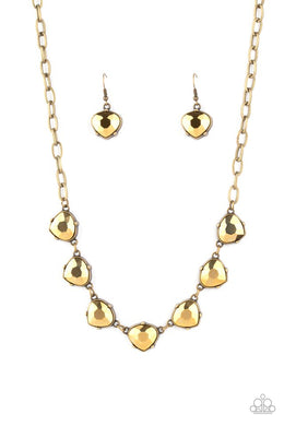 Star Quality Sparkle - Brass - Paparazzi Necklace Image