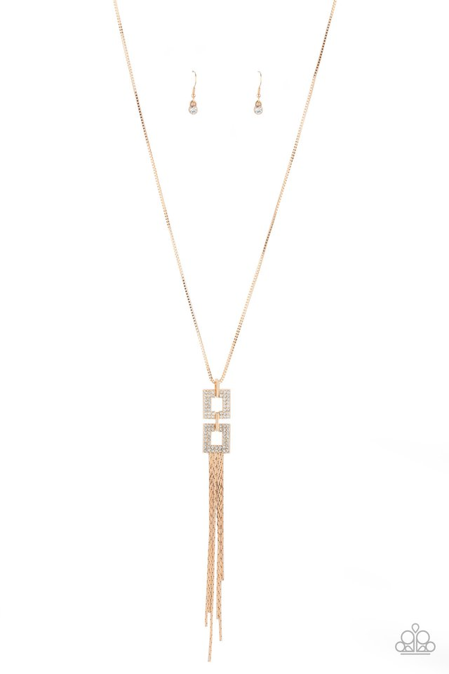 Paparazzi Necklace ~ Times Square Stunner - Gold