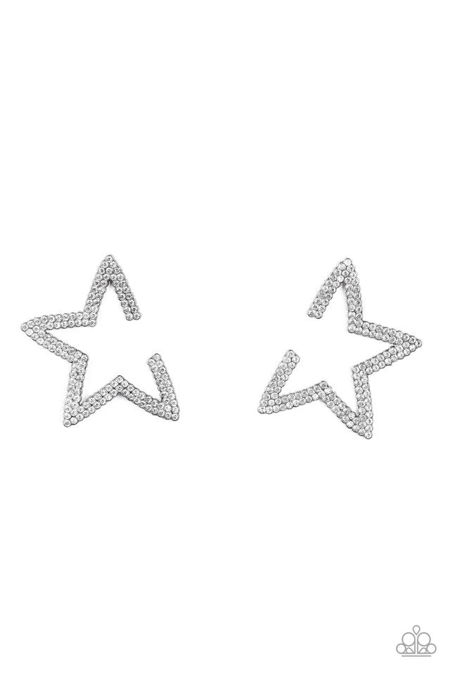 Star Player - Black - Paparazzi Earring Image
