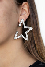 Load image into Gallery viewer, Star Player - Black - Paparazzi Earring Image