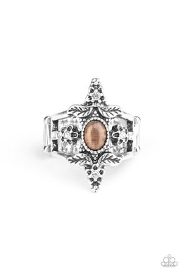 Fleur de Fancy - Brown - Paparazzi Ring Image