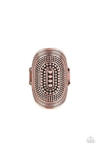 Dotted Decor - Copper - Paparazzi Ring Image