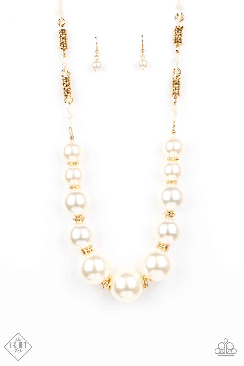 Paparazzi Necklace ~ Pearly Prosperity -Fashion Fix Oct2020 - Gold