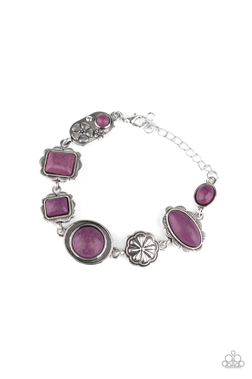 Paparazzi Bracelet ~ Gorgeously Groundskeeper - Purple