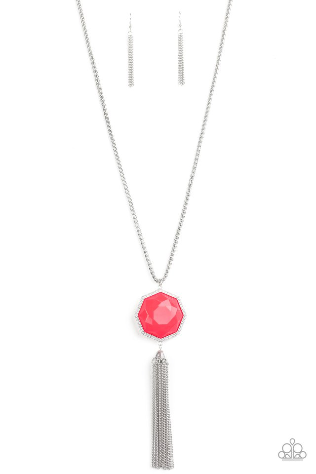Prismatically Polygon - Pink - Paparazzi Necklace Image