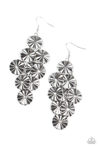 Star Spangled Shine - Silver - Paparazzi Earring Image