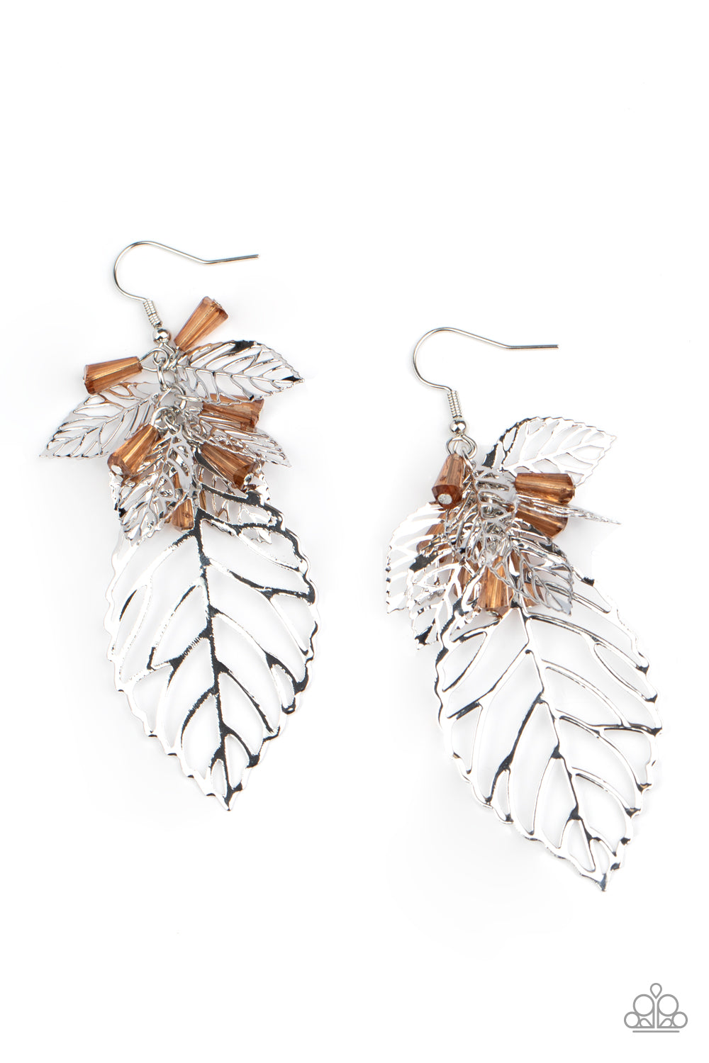 Paparazzi Earring ~ Instant Re-LEAF - Brown