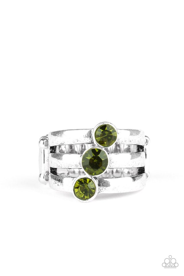 Paparazzi Ring ~ Triple The Twinkle - Green