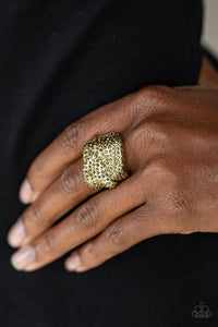 Imperial Industrialism - Brass - Paparazzi Ring Image