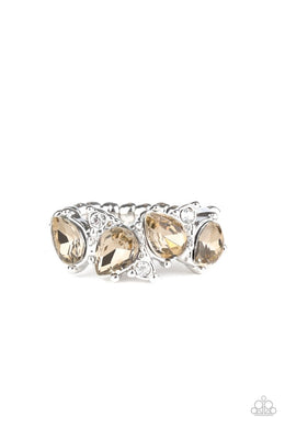 Majestically Modern - Brown - Paparazzi Ring Image