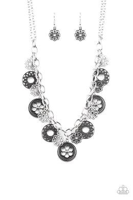 Meadow Masquerade - Silver - Paparazzi Necklace Image