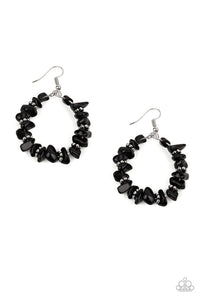 Going for Grounded - Black - Paparazzi Earring Image