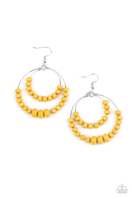 Paradise Party - Yellow - Paparazzi Earring Image