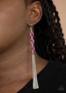 Moved to TIERS - Pink - Paparazzi Earring Image