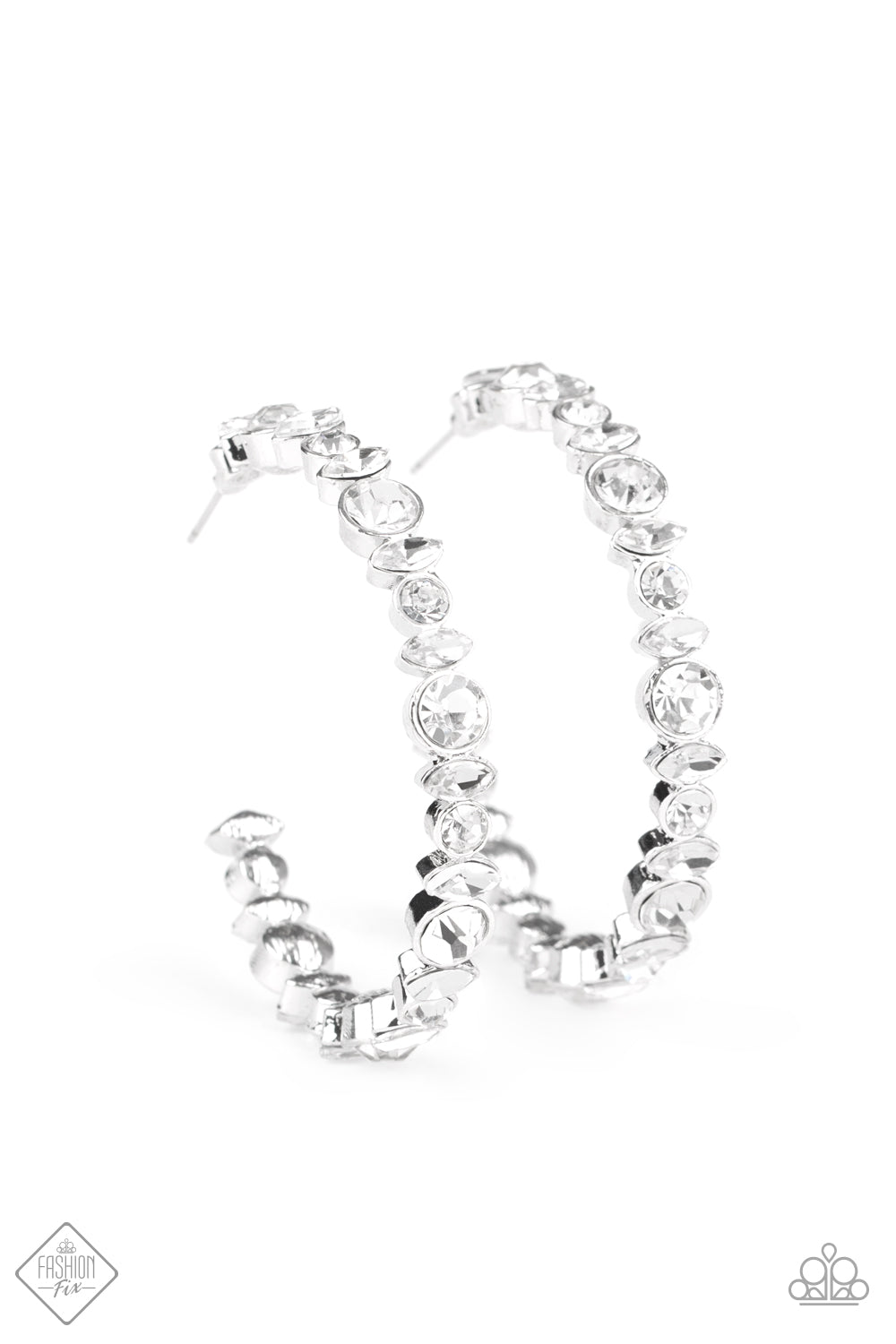 Paparazzi Earring Fashion Fix Sept 2020 ~ Can I Have Your Attention? - White