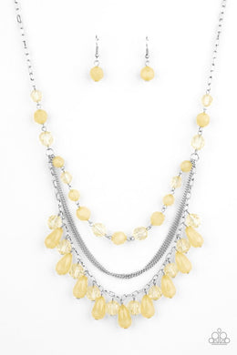 Awe-Inspiring Iridescence - Yellow - Paparazzi Necklace Image
