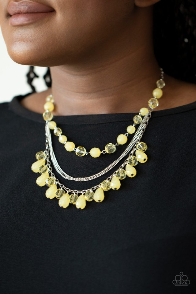 Paparazzi Necklace ~ Awe-Inspiring Iridescence - Yellow
