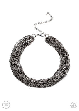 Catch You LAYER! - Black - Paparazzi Necklace Image