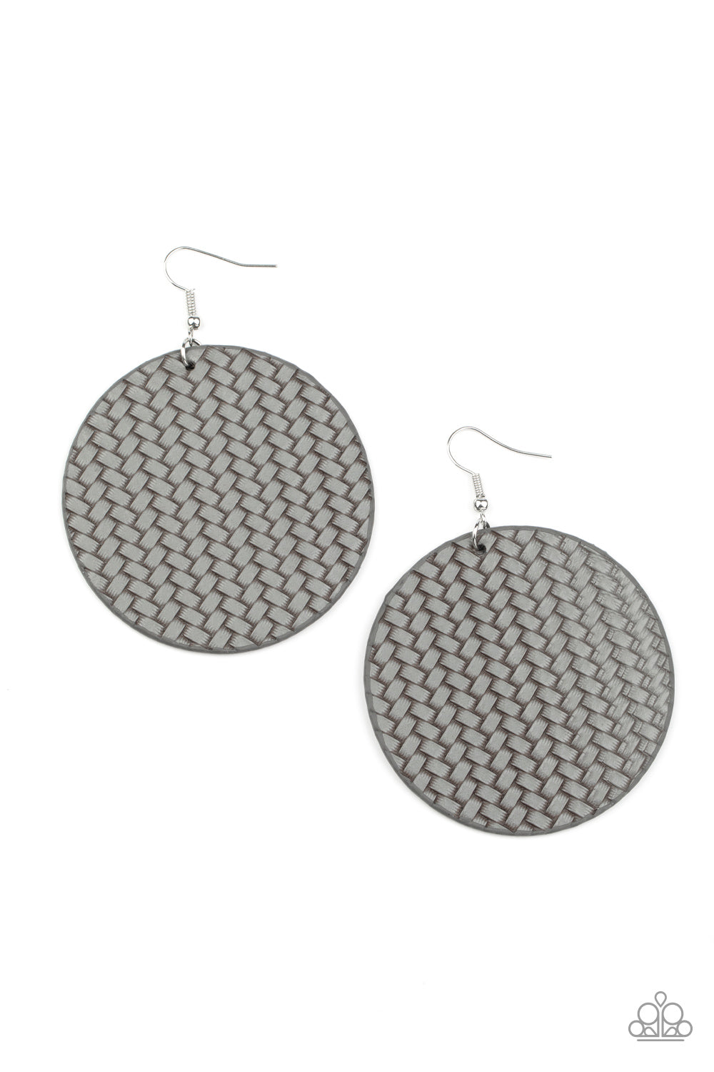Paparazzi Earring ~ WEAVE Your Mark - Silver