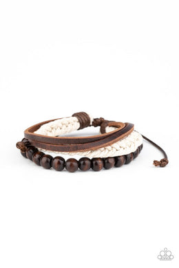 Wildly Wrangler - Brown - Paparazzi Bracelet Image