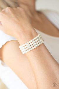Stacked To The Top - White - Paparazzi Bracelet Image