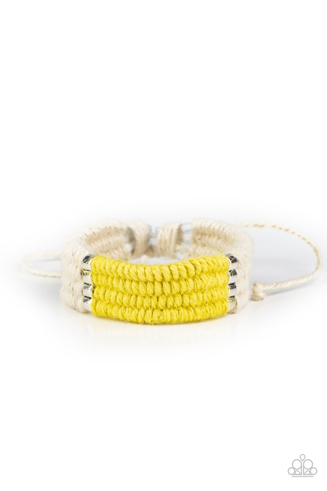 Paparazzi Bracelet ~ Hot Cross BUNGEE - Yellow