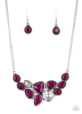 Breathtaking Brilliance - Purple - Paparazzi Necklace Image