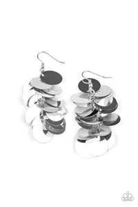 Paparazzi Earrings Sept LOP - Now You SEQUIN It - Silver