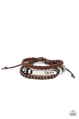 Let Faith Be Your Guide - Brown - Paparazzi Bracelet Image
