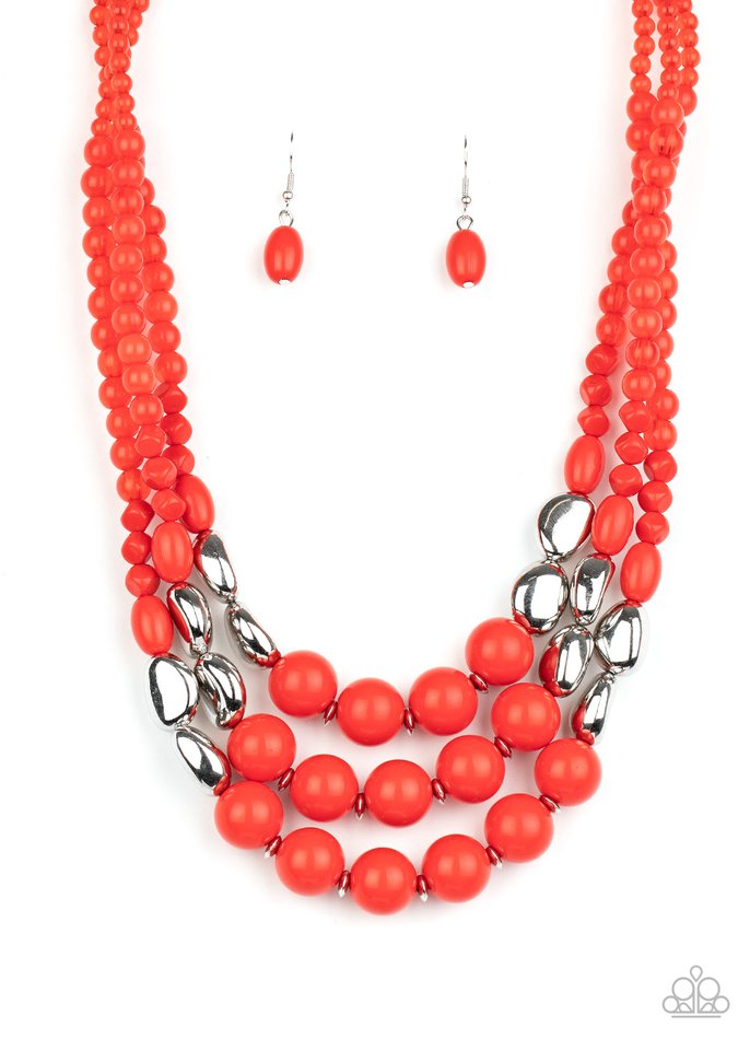 Paparazzi Necklace ~ Flamingo Flamboyance - Red