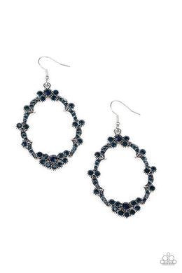 Sparkly Status - Blue - Paparazzi Earring Image