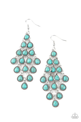 Rural Rainstorms - Blue - Paparazzi Earring Image