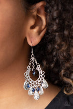 Load image into Gallery viewer, Musical Gardens - Blue - Paparazzi Earring Image
