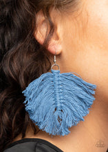 Load image into Gallery viewer, Macrame Mamba - Blue - Paparazzi Earring Image