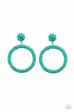 Be All You Can BEAD - Blue - Paparazzi Earring Image