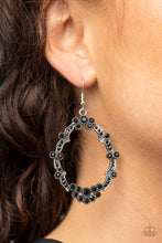 Load image into Gallery viewer, Sparkly Status - Black - Paparazzi Earring Image