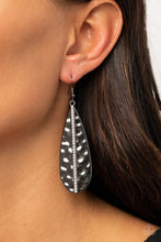 Load image into Gallery viewer, On The Up and UPSCALE - Black - Paparazzi Earring Image