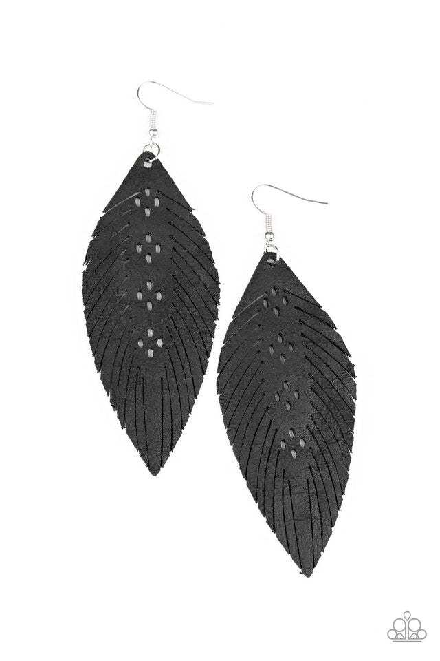 Paparazzi Earring ~ Wherever The Wind Takes Me - Black
