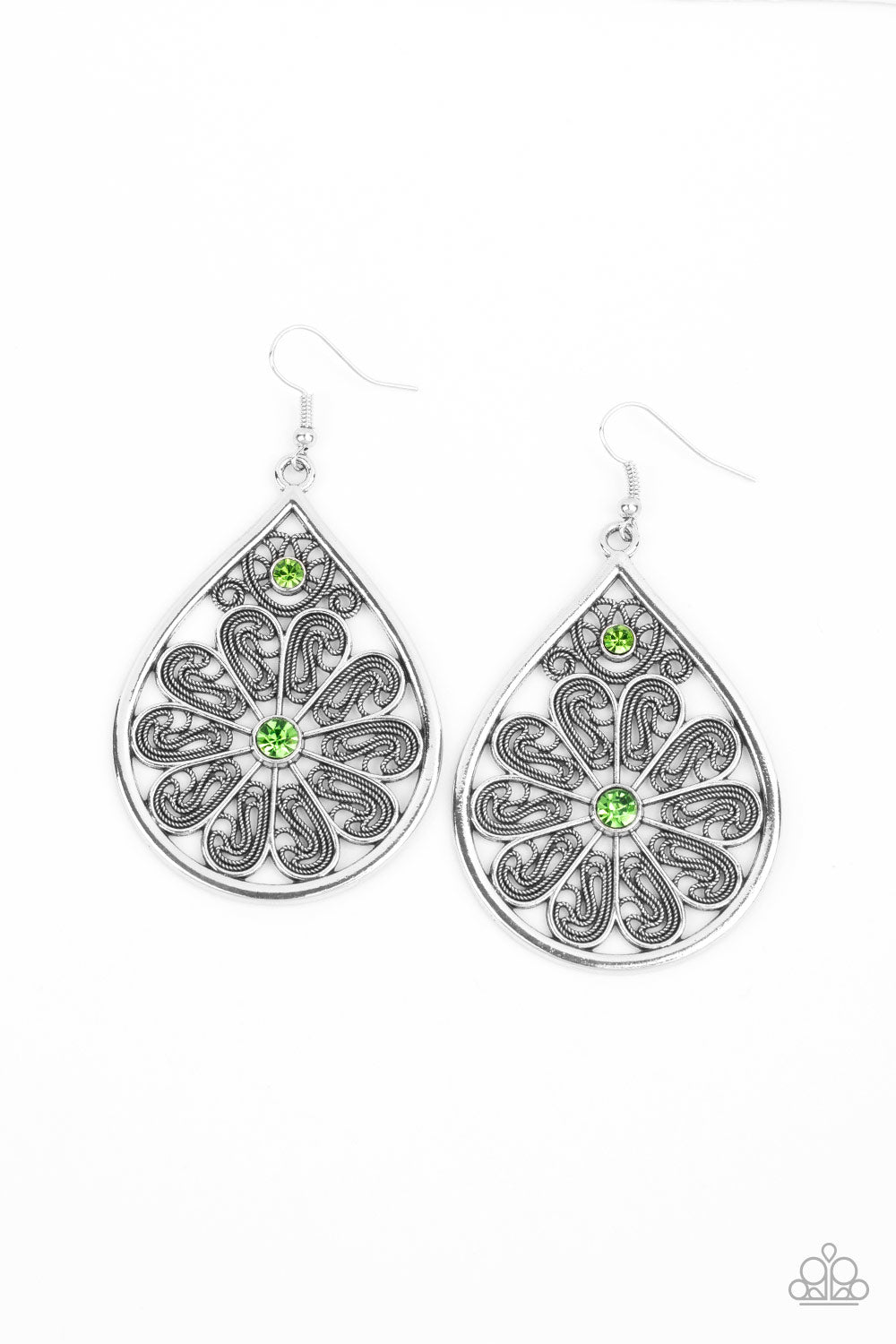 Paparazzi Earring ~ Whimsy Dreams - Green