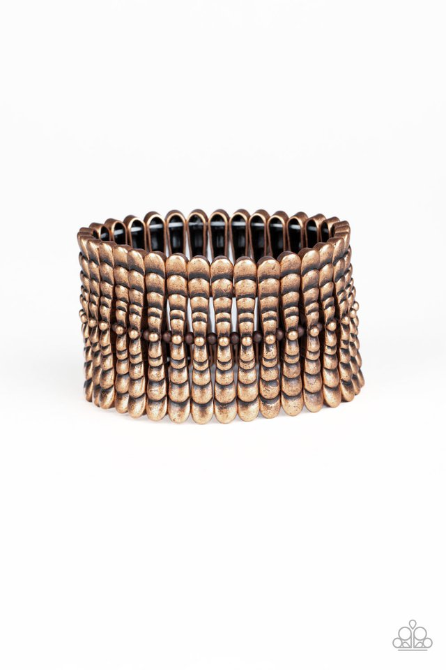 Paparazzi Bracelet ~ Level The Field - Copper