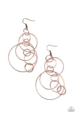 Running Circles Around You - Copper - Paparazzi Earring Image