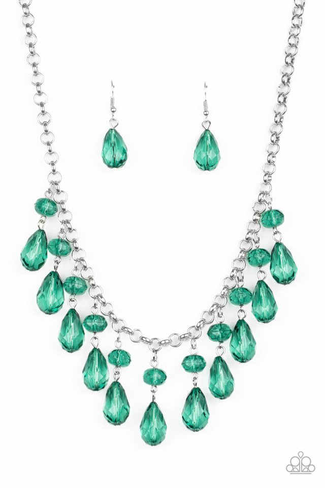 Paparazzi Necklace ~ Crystal Enchantment - Green