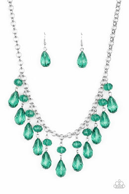 Crystal Enchantment - Green - Paparazzi Necklace Image