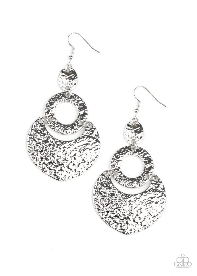 Paparazzi Earring ~ Shimmer Suite - Silver