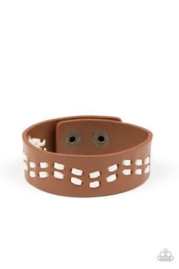 Leather Is My Favorite Color - Brown - Paparazzi Bracelet Image